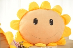 Plants VS Zombies Series Plush Toys Cushion SunFlower 50*55CM/20*21""