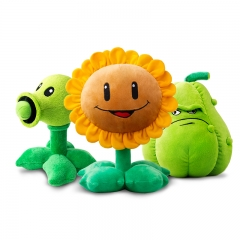 Plants Vs Zombies Plush Toys - Peashooter / Sunflower / Squash 30cm/12Inch