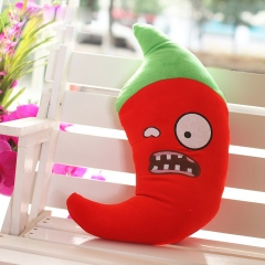 Plants VS Zombies Series Plush Toy Cushion Jalapeno 55*26CM/21*10""