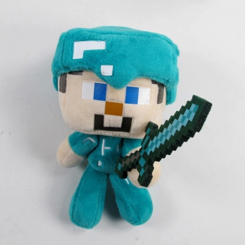 MineCraft Steve With Sword Stuffed Doll Plush Toy 18cm/7inch