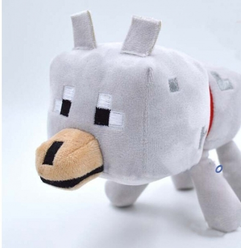 Minecraft MC Figures Plush Toy Stuffed Toy - Wolf 22cm/8.7inch