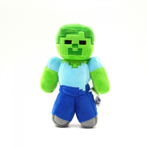 Minecraft Zombie Plush Toy Stuffed Doll Small Size 18cm/7inch