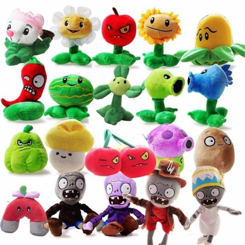 20Pcs Plants VS Zombies Plush Toys Stuffed Animals 15-20cm/6-8Inch Tall