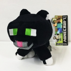 Minecraft Black Tuxedo Cat Plush Toys Stuffed Dolls 20cm/8inch