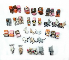 36Pcs Set MineCraft MC Block Mini Figure Toys 4th Generation New Version 3cm/1.2inch