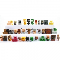 36Pcs Set MineCraft MC Block Mini Figure Toys 3rd Generation 3cm/1.2inch
