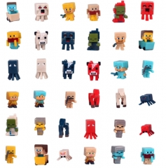 36Pcs Set MineCraft MC Block Mini Figure Toys 2nd Generation 3cm/1.2inch