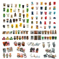 144Pcs Set MineCraft MC Blocks Mini Action Figures Toys 3cm/1.2inch