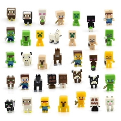 MineCraft Block Mini Figure Toys 36pcs Set 1st Generation 3cm/1.17inch