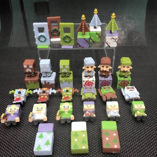 36Pcs Set MineCraft Mini Action Figure Toys 6th Generation 2.5-3.5cm/1-1.4inch