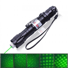 2000MW High Power Green Laser Pointer Pen with Starry Cap and Clip