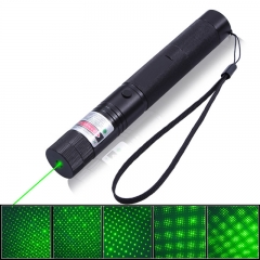 2000MW High Power 532NM Green Laser Pointer Pen with Starry Cap and Safety Lock