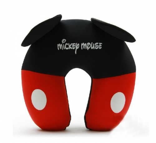Comfort Foam Particles U Neck Travel Pillow Cute Cartoon Pattern - Mickey Mouse