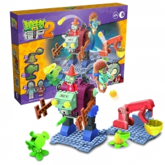 Plants vs Zombies Lego Compatible Building Blocks Shooting Toys The Mech Gargantuar Large Scene
