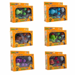 Plants vs Zombies Action Figure Toys Coconut Cannon Peashooter AKEE Shooting Dolls in Gift Box