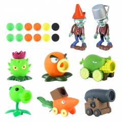 Plants vs Zombies Action Figure Toys Shooting Dolls 2-in-1 Set in Gift Box