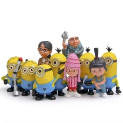 10Pcs Set DESPICABLE ME The Minions Action Figures Kit Model Toys