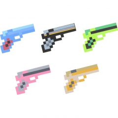 Minecraft Foam Diamond Pistol Figure Toys 23CM/9Inch