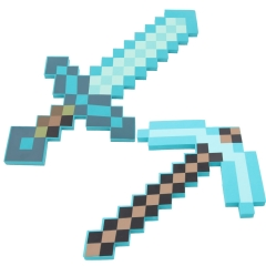 Minecraft Foam Diamond Sword / Pickaxe Figure Toys