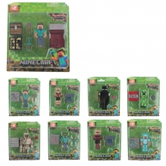 MineCraft MC Block Mini Figure Toys Action Figures 9pcs Set