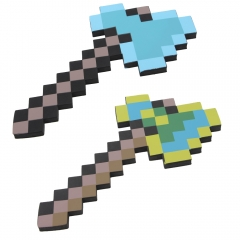 Minecraft Foam Diamond Axe Figure Toys 40CM/16Inch