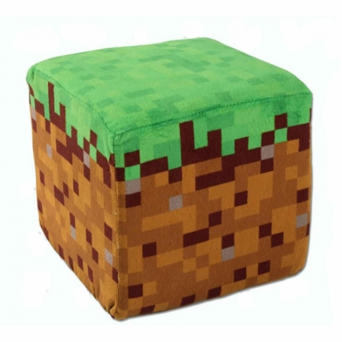Minecraft Grass Block Plush Toy Cube Cushion 20cm/8Inch