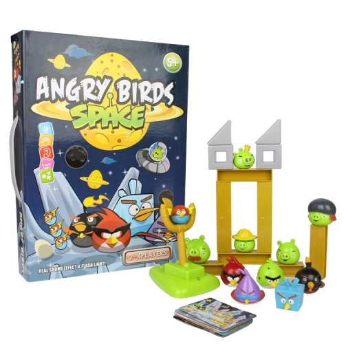 Angry Birds Space Version Building Blocks Shooting Figure Toys