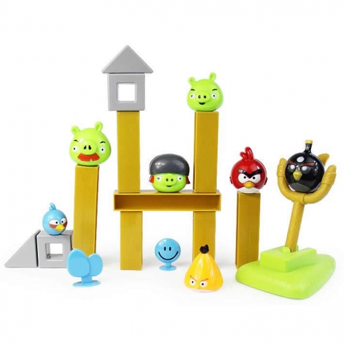 Angry Birds Figures Building Block Toys Shooting Toys Set