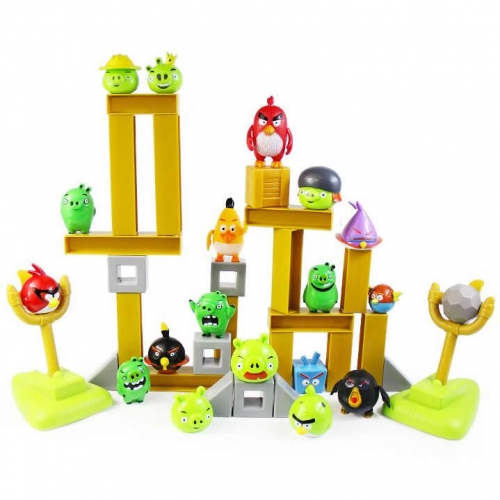 Angry Birds Classical Space Version Building Blocks Shooting Toys 9 Birds 9 Pigs Set