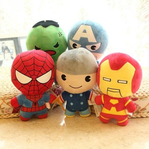 Marvel's The Avengers Super Heroes Plush Toys Stuffed Animals Set 5Pcs 20cm/8Inch Tall