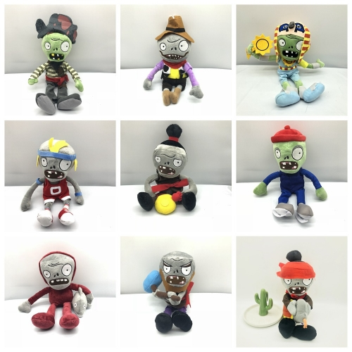 Plants Vs Zombies Plush Toys Stuffed Dolls Complete Collection of Zombies Part1
