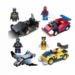 Super Heroes Batman Superman Spider Man Lego Compatible Building Blocks Mini Figure Toys 4Pcs Set SY184