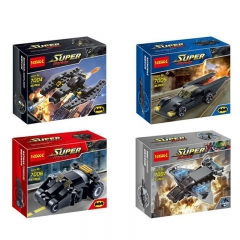 Super Heroes Batman Chariots Lego Compatible Building Blocks Mini Figure Toys 4Pcs Set 7004-7007