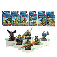 CHIMA Lego Compatible Minifigures Block Mini Figure Toys 6Pcs Set SY137