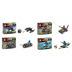 Super Heroes Lego Compatible Batman Building Blocks Mini Figure Toys 4Pcs Set SY203