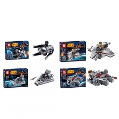 Star Wars Lego Compatible Building Blocks Mini Figure Toys 4Pcs Set SY205