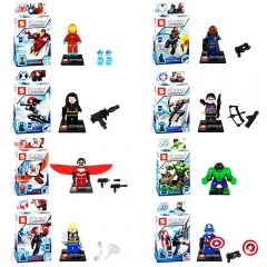 Marvel's The Avengers Super Heroes Lego Compatible Block Mini Figure Toys 8Pcs Set SY161
