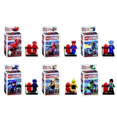 Big Hero 6 Lego Compatible Minifigures Block Mini Figure Toys 6Pcs Set