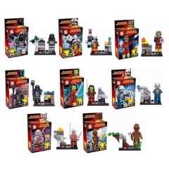 Guardians Of The Galaxy  Lego Compatible Blocks Mini Figure Toys 8Pcs Set SY257