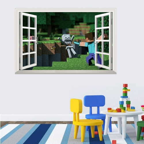 Minecraft 3D Landscape Wall Stickers Decorative Wall Decal 6012 50x70cm