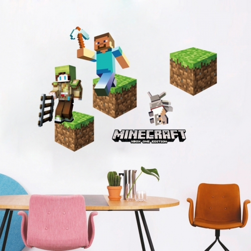 Minecraft 3D Wall Stickers Decorative Wall Decal 50x70cm NO.6024