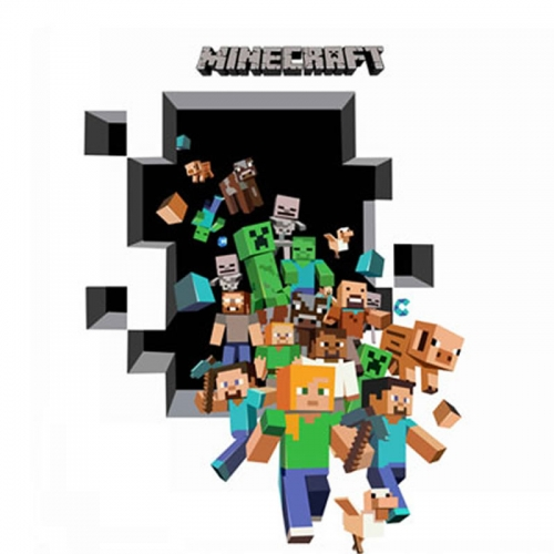 Minecraft 3D Wall Stickers Decorative Wall Decal Home Decor 6006 50x70cm