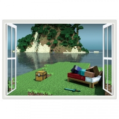 Minecraft 3D Landscape Wall Stickers Decorative Wall Decal 6019 50x70cm