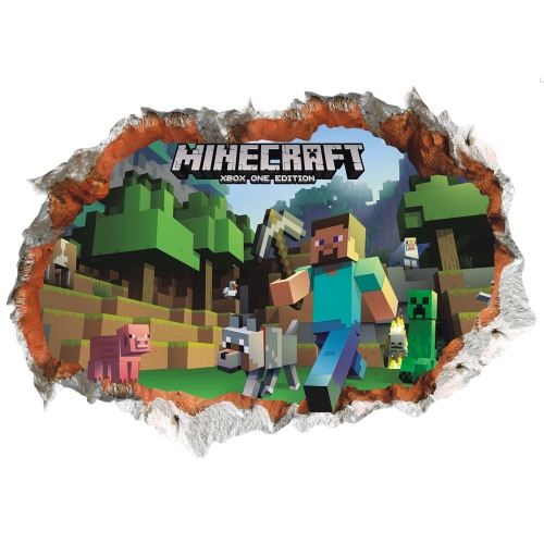Minecraft 3D Wall Stickers Decorative Wall Decal 50x70cm NO.6022