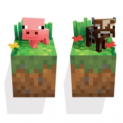 Minecraft 3D Wall Stickers Decorative Cow & Pig Wall Decal 6011 50x70cm