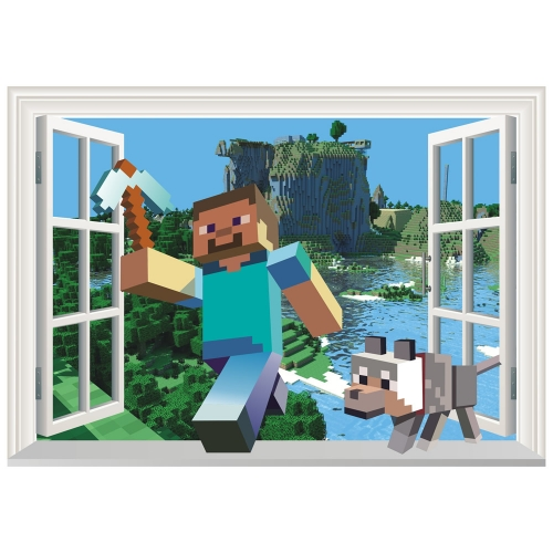 Minecraft 3D Wall Stickers Decorative Wall Decal 50x70cm NO.6023