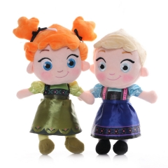 Frozen Plush Toys Child Anna / Elsa Stuffed Dolls 25cm/10Inch Tall