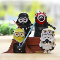 Despicable Me The Minions Cosplay Star War Roles PVC Action Figure Toys Mini Figurines 3Inch Tall