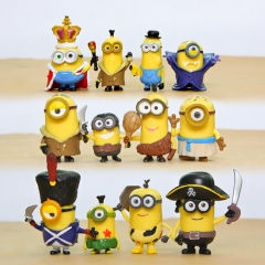 12Pcs Set Despicable Me 3 The Minions Action Figure PVC Toys Cute Movie Characters