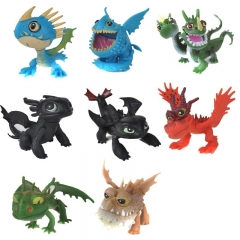 8Pcs Set How to Train Your Dragon 2 Action Figures PVC Toys 5-5.6cm/1.9-2.2inch